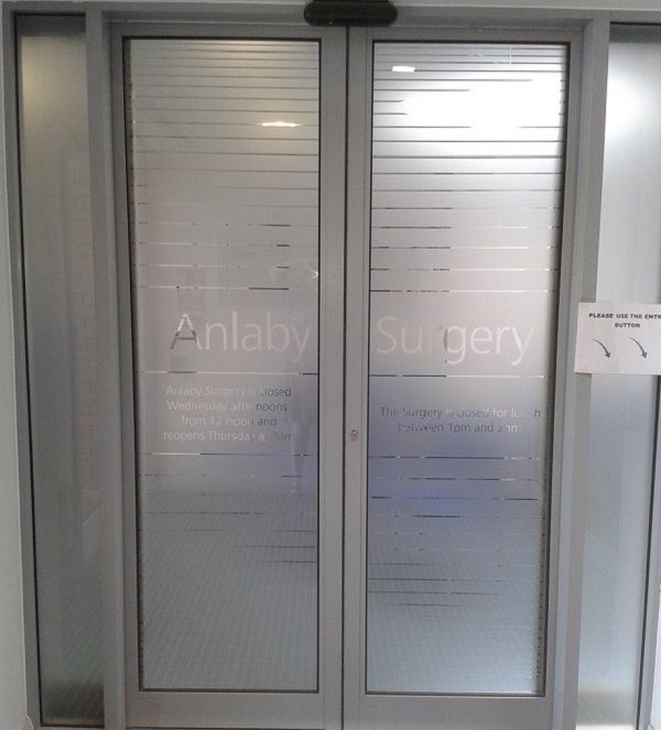Anlaby Surgery doors